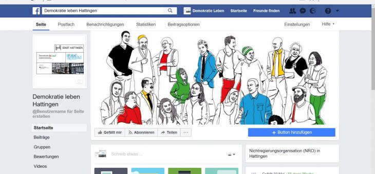 Demokratie leben Hattingen ist jetzt auf Facebook