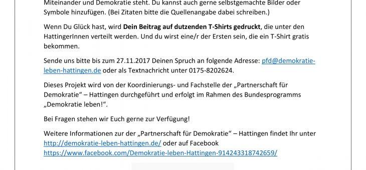 Selbstbewusst Kante zeigen – Dein Motto für Demokratie und Respekt!