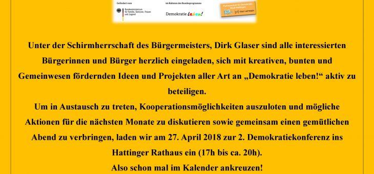 Save the date: Demokratiekonferenz am 27.04.18