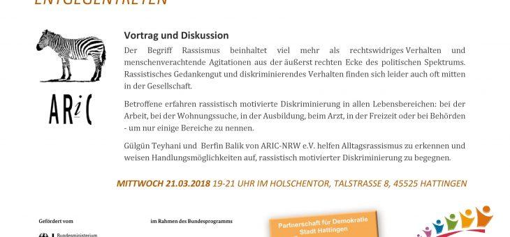 ALLTAGSRASSISMUS ERKENNEN – DISKRIMINIERUNG ENTGEGENTRETEN (21.03.18)