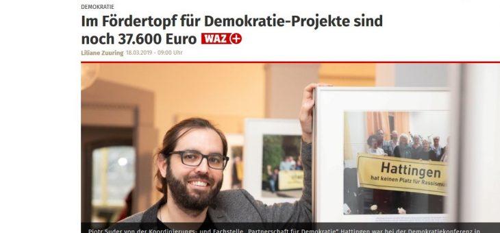 Im Fördertopf für Demokratie-Projekte sind noch 37.600 Euro