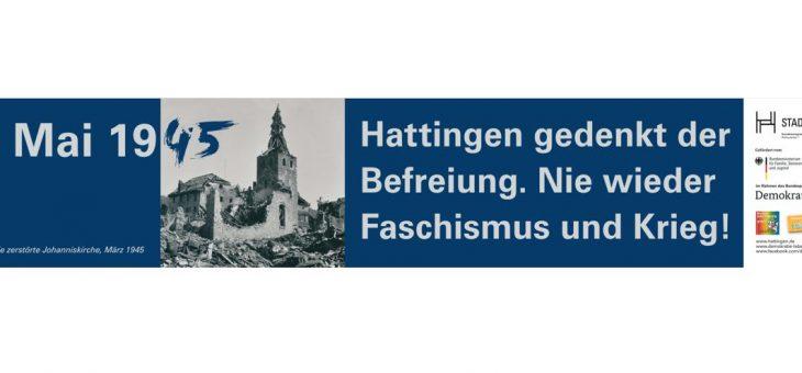 8. Mai 1945 – Hattingen gedenkt der Befreiung. Nie wieder Faschismus und Krieg!