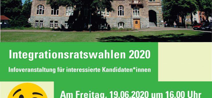 Integrationsratswahlen 2020 – Infoveranstaltung für interessierte Kandidaten*innen, 19.06.20, 16h